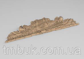 Горизонтальный декор 64 деревянная накладка - 800х185 мм, фото 2