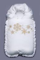 Зимний конверт для новорожденного Снежинки Модный карапуз
