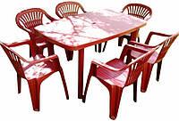 Комплект/набор для пикника 6 стульев +1 большой стол