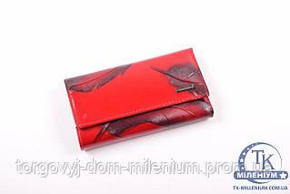 Ключница женская кожаная (цв.красный) размер 12/7 см. Lisonkaoberg LK7-6572A