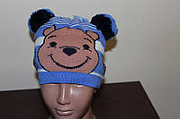 Детская шапка Мишка. Осень. Размер 48-50, фото 1