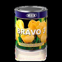 Глубокоматовая латексная краска для стен и потолков Bravo 3. 1л