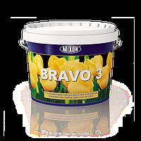 Глубокоматовая латексная краска для стен и потолков Bravo 3. 2.5л
