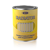 Термостойкая акриловая краска Термостойкая акриловая краска для дерева и метала, Mixon Radiator. Белая 0,75л