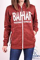 Кофта спортивная женская на флисе (цв.бордовый) Godsend E-8833 Размер:44,46