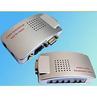 Конвертер VGA на AV S-Video TV (коробка оранж)
