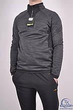 Кофта спортивная мужская (55проц. polyester, 45проц. cotton) цв.серый EXUMA 271214 Размер:48,50,52