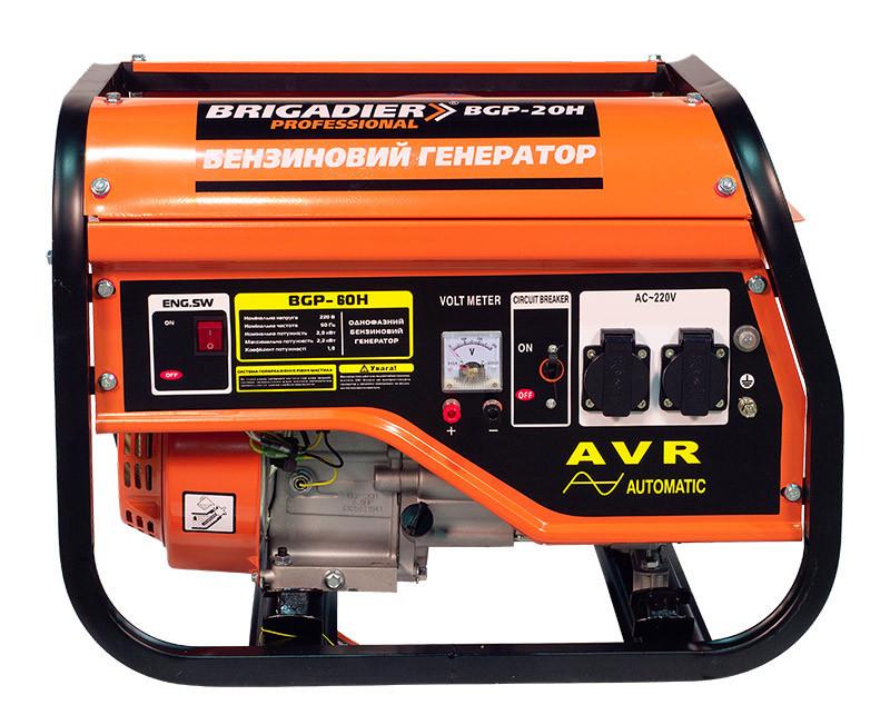Бензиновый генератор Brigadier Professional BGP-60H, 6.0 кВт.Ручной старт.