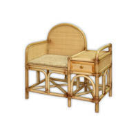 Столик под телефон Пекин плетеный из ротанга с подушкой