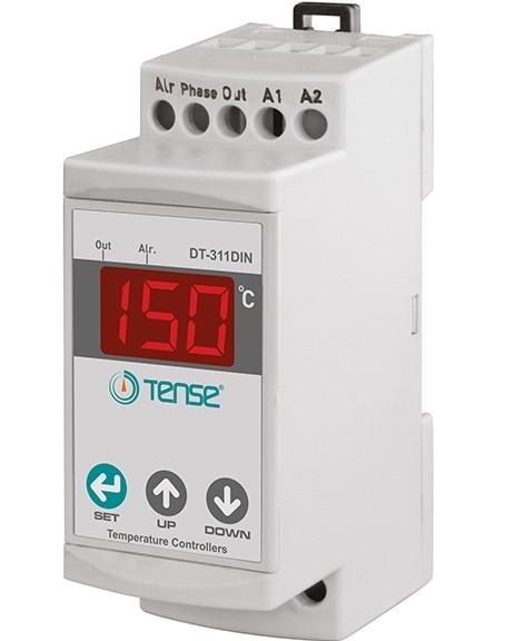 Терморегулятор на DIN рейку электронный термостат на дин двухуровненвый двухканальный от -50 до +150 градусов