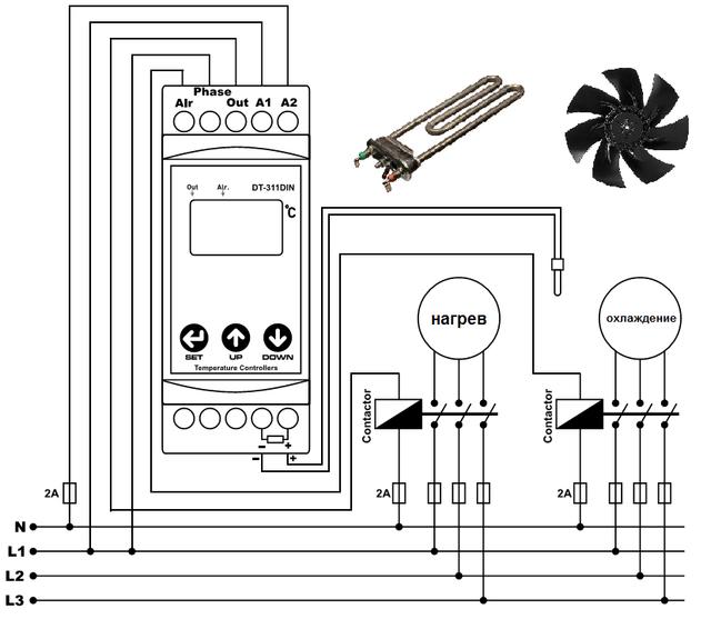 цифровой электронный термостат терморегулятор на DIN рейку