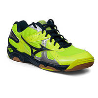 Кроссовки для волейбола бадминтона сквоша тенниса MIZUNO WAVE TWISTER 4 NEON