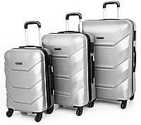 Дорожный Набор чемоданов Польша серый FS7