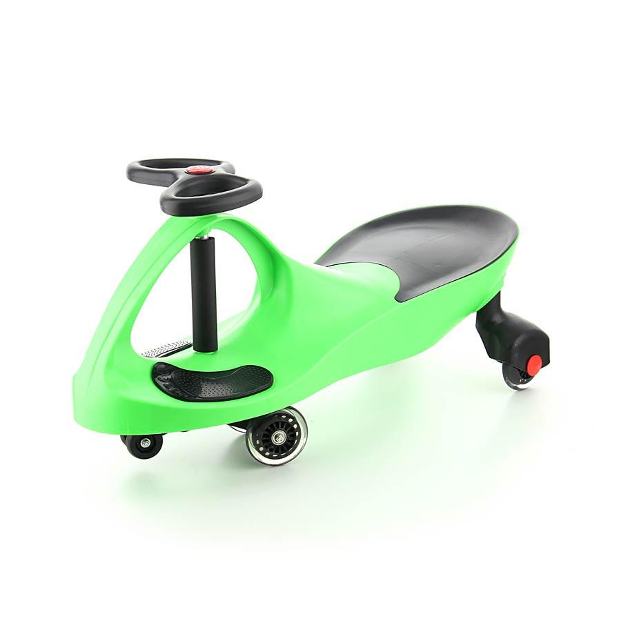 Машинка Бибикар с полиуретановыми колесами, зеленая (Bibicar, Smart car)