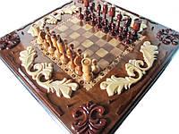 Шахматная деревянная игра ручной работы, фото 1