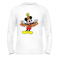 Лонгслив Mickey Happy birthday