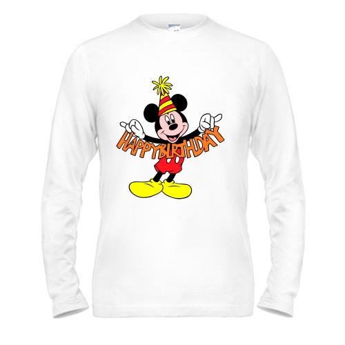 "Лонгслив Mickey Happy birthday - Интернет магазин  ""Prosto Майки"" в Днепре"