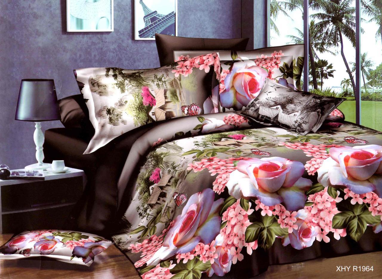 Двуспальный набор постельного белья 180*220 из Полиэстера №210 Черешенка™