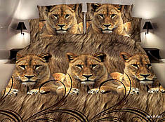 Двуспальный набор постельного белья 180*220 из Полиэстера №212 Черешенка™