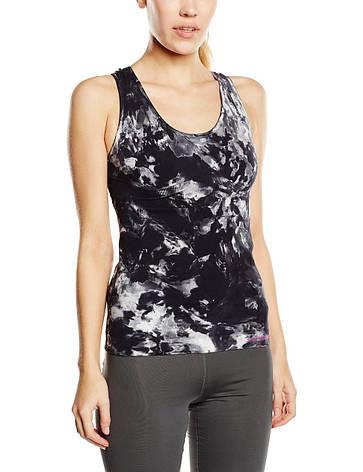 Майка для фитнеса женская SPAIO Fitness W01 черный/белый, фото 2
