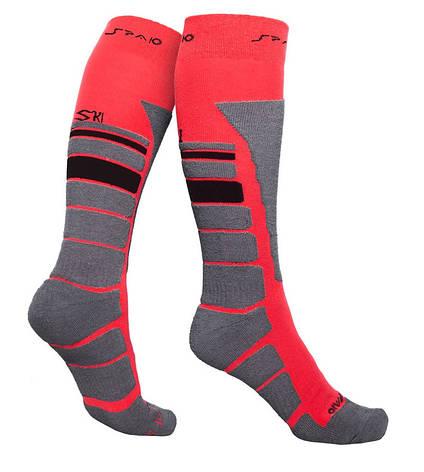 Термоноски SPAIO Ski Thermolite красный/серый/черный, фото 2