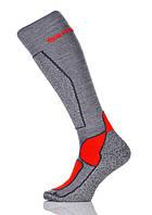 Термоноски SPAIO Ski Vigour серый/светло-серый/красный