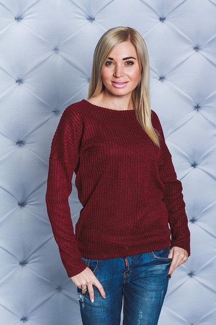 4807d98be3f66 Женская кофточка рубчик бордо - Интернет магазин одежды Модна Лавка в  Кременчуге