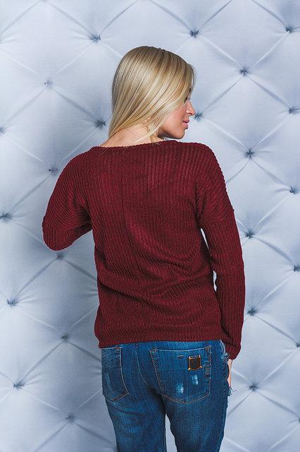 bc420d409ef69 Женская кофточка рубчик бордо, цена 398 грн., купить в Кременчуге — Prom.ua  (ID#616821486)