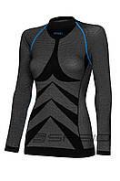 Термобелье реглан женский SPAIO Simple W01 черный/синий