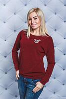 1f21789476ef7 Интернет магазин одежды Модна Лавка. г. Кременчуг. Кофта женская с  наклейкой бордо