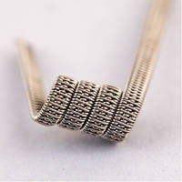 Triple staggered fused clapton coil SS316L