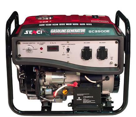 Бензогенератор Senci SC3500-Е.Электрический стартер, фото 2