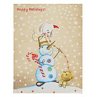 Полотенце вафельное Happy holidays