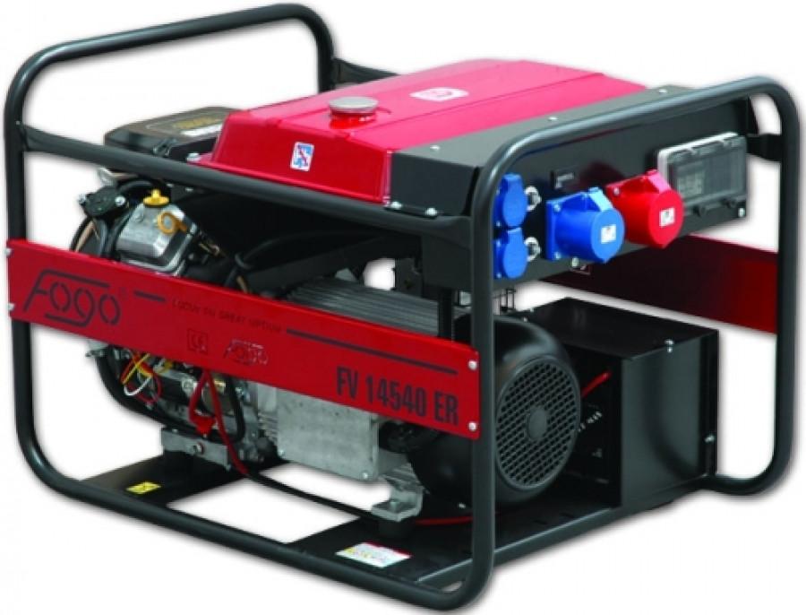 Бензиновый 3 фазный генератор Fogo FV 14540 ER