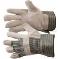 Перчатки рабочие комбинированные х/б+спилок, цельная ладонь.