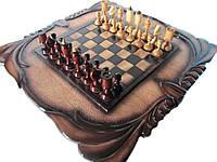 Шахматы резные с нардами, фото 1