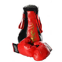 Боксерський набір M 1044 груша рукавички 8 звуків, фото 1