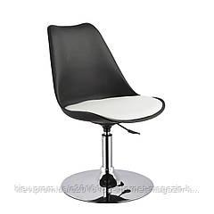 Кресло барное для дома черное белое Home4You ARON  black - white