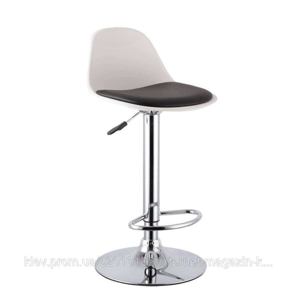 Барный стул для стойки барной Home4You AXEL  white-black