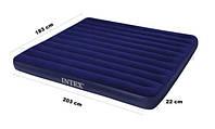 Двухместный надувной матрас Intex Classic Downy 183х203х22 см. 68755