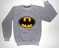 """Батник  """" Бетмен """" с  манжетом для мальчика (начес) рост 128,140,152,164 см"""