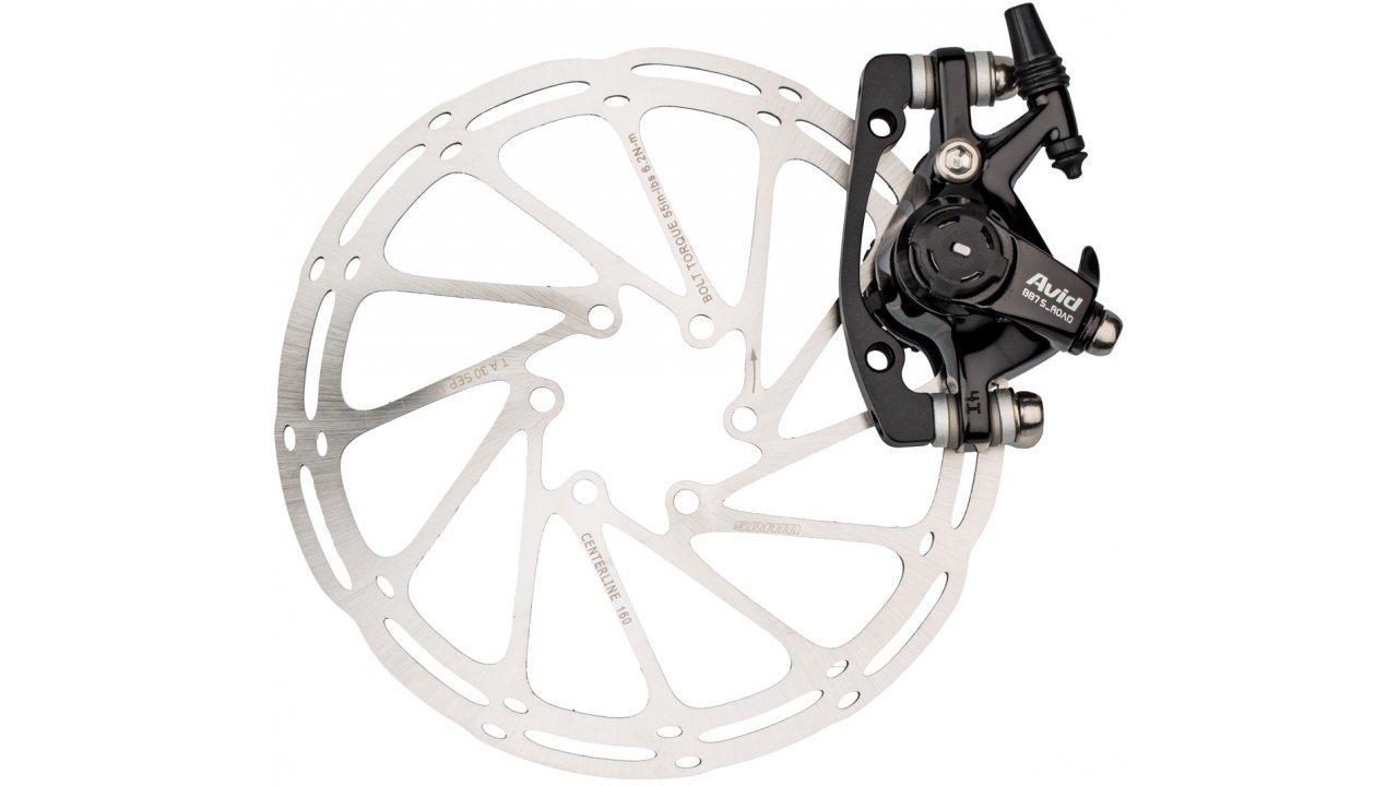 Тормоза дисковые механические Avid BB7 Road S + 140/160 мм ротор