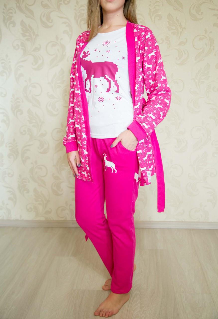 Комплект 3-х предметный женский Малина - Diva Tex - Интернет-магазин трикотажной одежды в Полтавской области