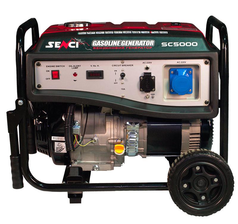 Бензогенератор Senci SC5000-E.Электро стартер