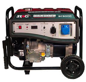 Бензогенератор Senci SC5000-E.Электро стартер, фото 2