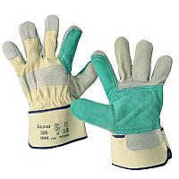 Перчатки рабочие комбинированные х/б+спилок, усиленные.