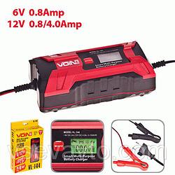 Автомобильное зарядное устройство импульсное VOIN VL-144 2-4А/6-12V/цифровой экран/выбор типа АКБ