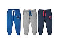 Спортивные штаны теплые с начесом на резинке хлопок для мальчика 2-6 лет Lupilu