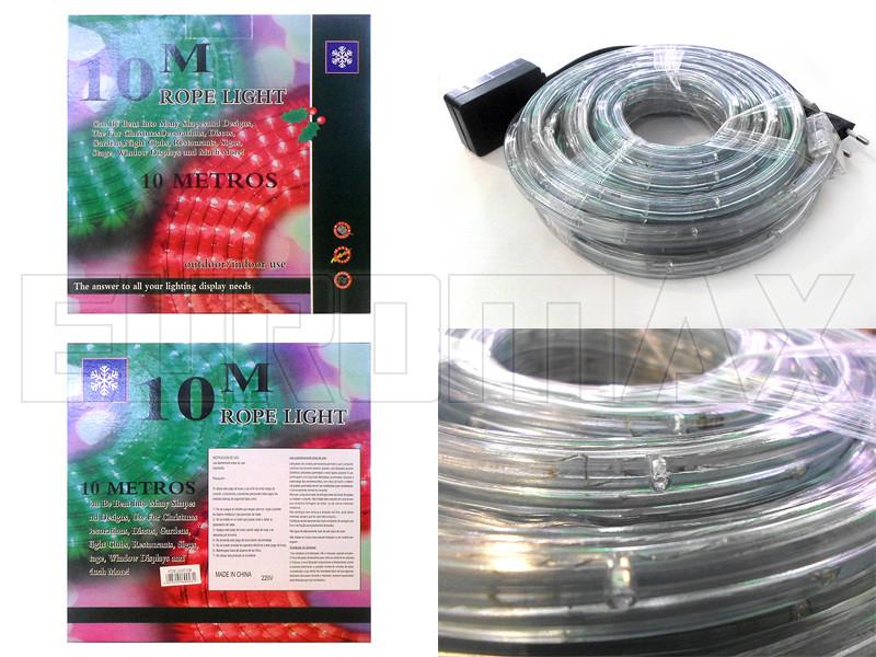Шланг светодиодный 10м (белый) 10шт ROPE-LIGHT-10M-W