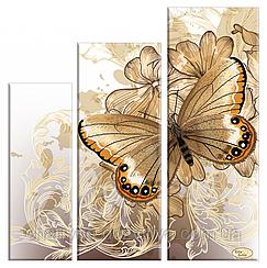 Схема-триптих для вышивки бисером Бархатные крылья